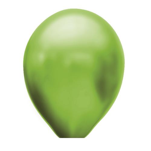 Ballonnen groen metallic 100 stuks