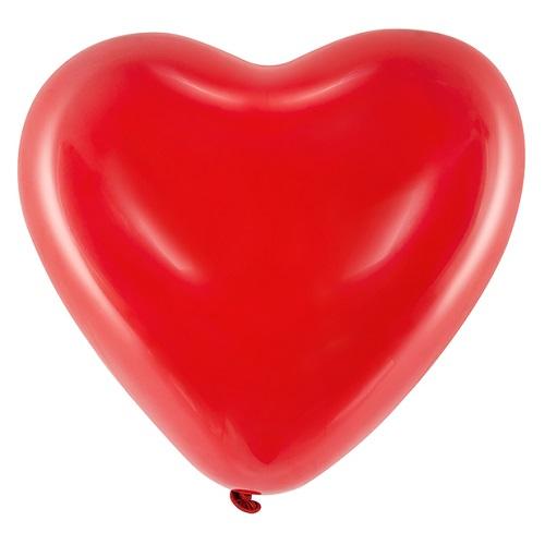 Heliumballon hart rood per stuk 30cm
