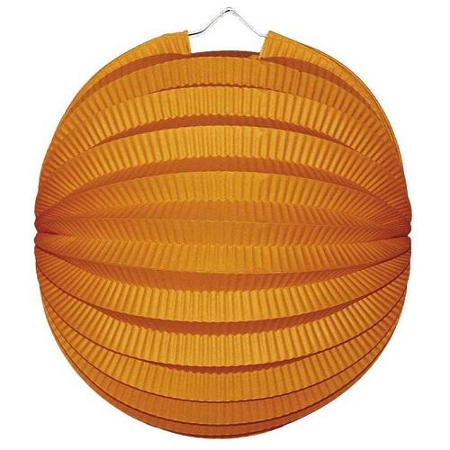 Lampion bol oranje 23cm