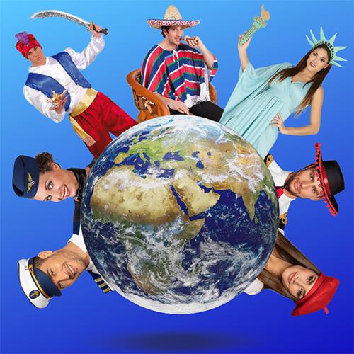 Around the world themafeest
