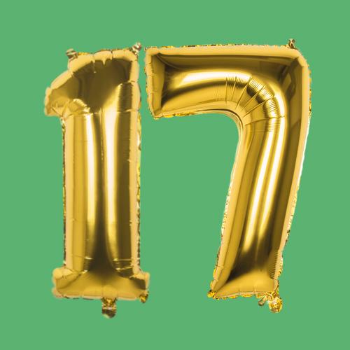 Verjaardag versiering 17 jaar
