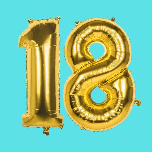 18e verjaardag versiering