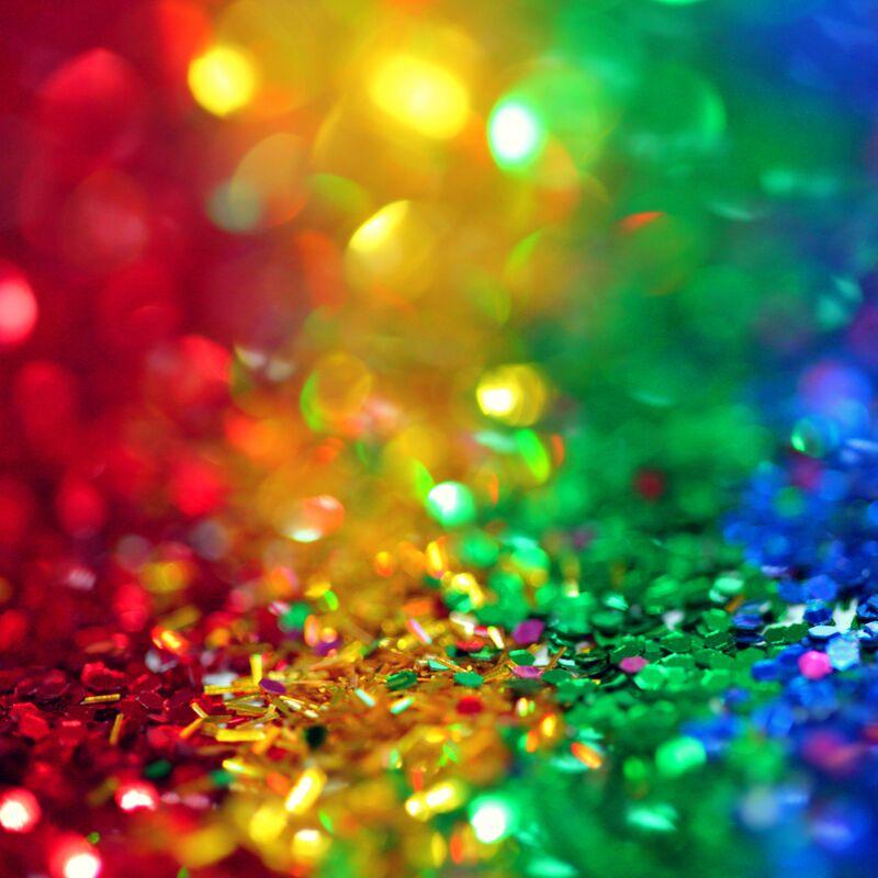 Glitter en plaksteentjes