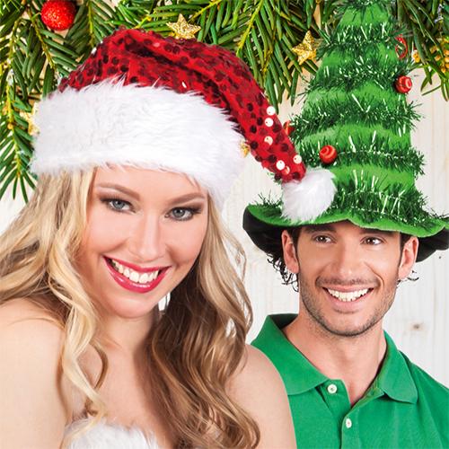 Kerstmutsen en diademen