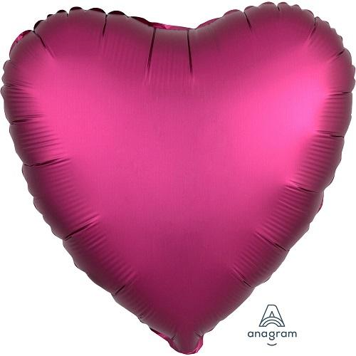 Folieballon hart satin granaatappel