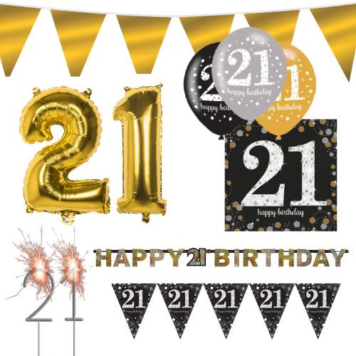 Sparkling Celebration feest pakket 21 jaar