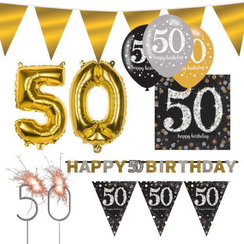 Sparkling Celebration feest pakket 50 jaar
