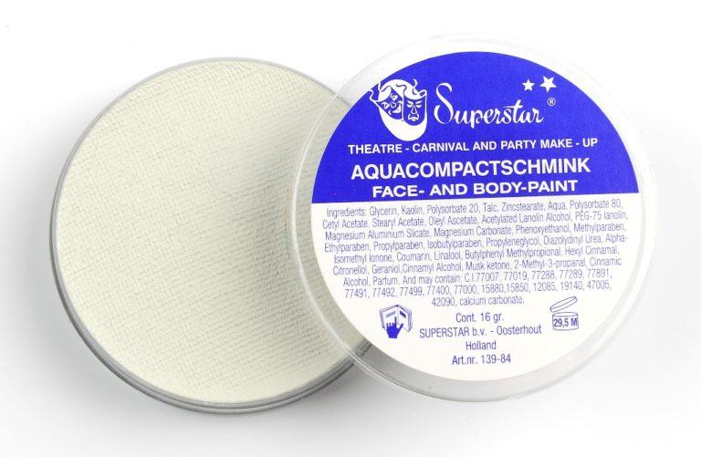 022 Doodshoofd wit waterschmink superstar 16 gram