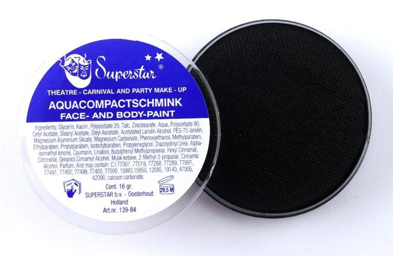 023 zwart waterschmink Superstar 16 gram
