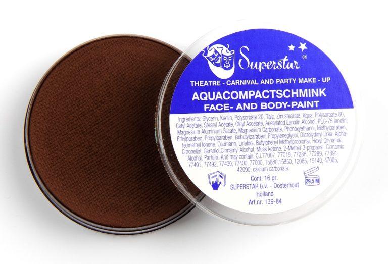 024 kastanje bruin waterschmink Superstar 45 gram