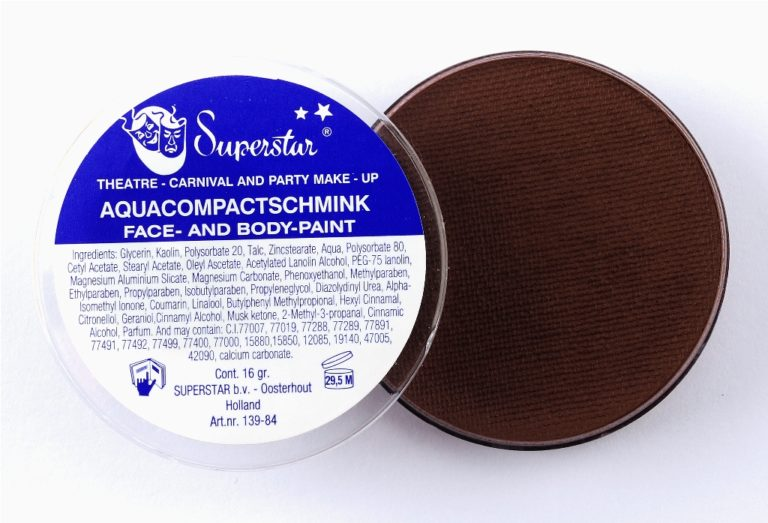 025 donkerbruin waterschmink Superstar 45 gram