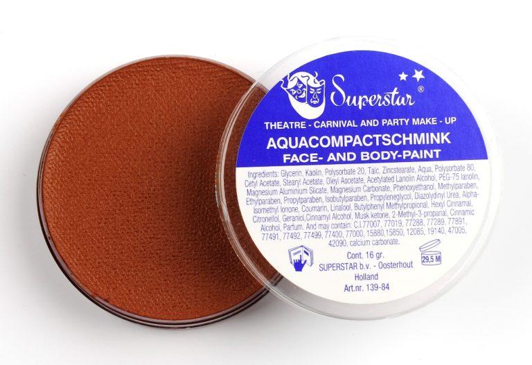 026 middenbruin waterschmink Superstar 45 gram