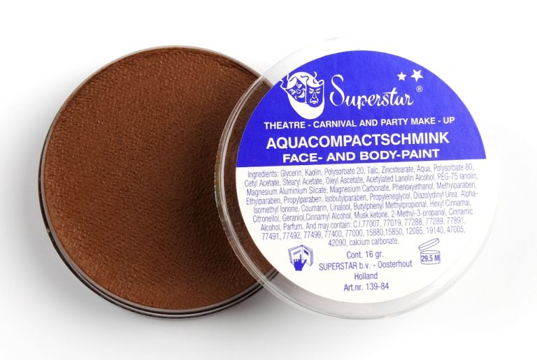 032 midden bruin waterschmink Superstar 16 gram