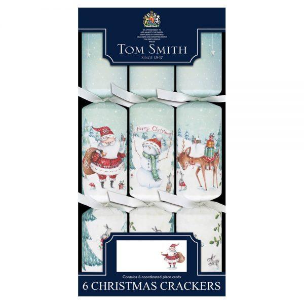 6 Christmas Crackers Kerstman