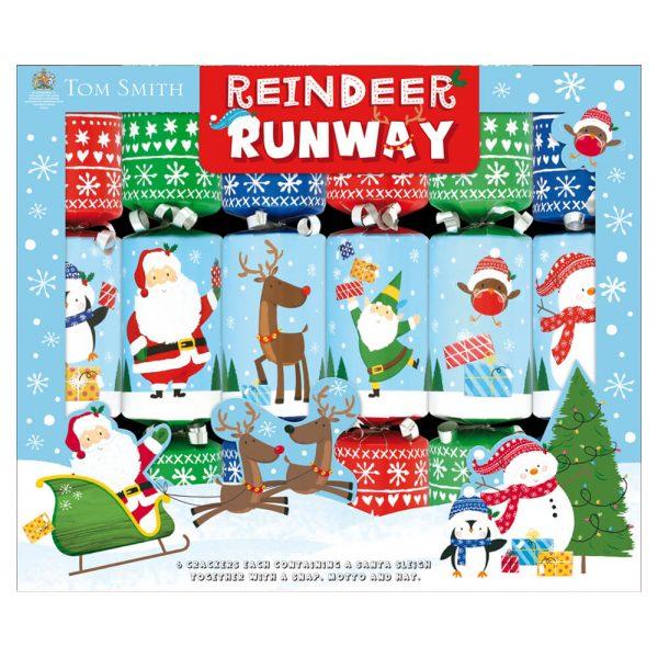 6 Christmas Crackers Reindeer Runway