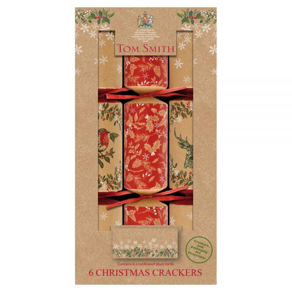 6 kraft Christmas Crackers
