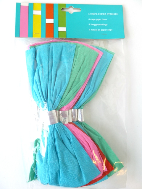 6 strikken crepepapier