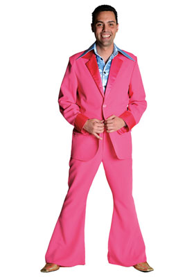 70ties Kostuum Pink XL