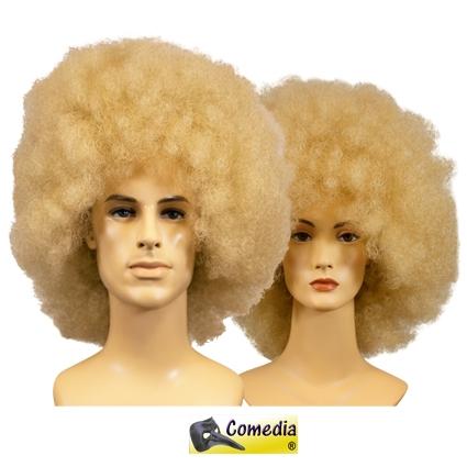 Afro pruik theater kwaliteit blond
