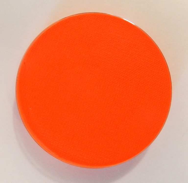 Aqua fluor UV schmink groot oranje