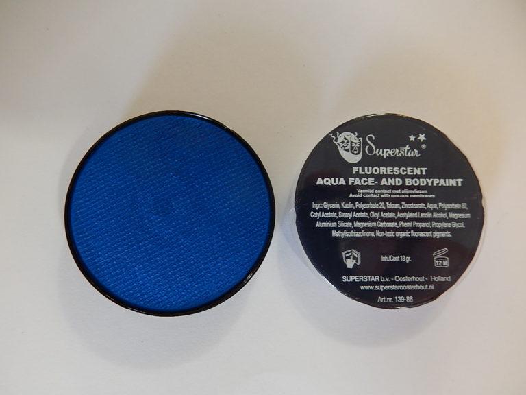 Aqua fluor UV schmink klein blauw