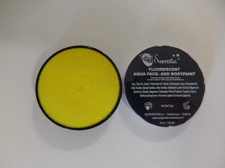 Aqua fluor UV schmink klein geel