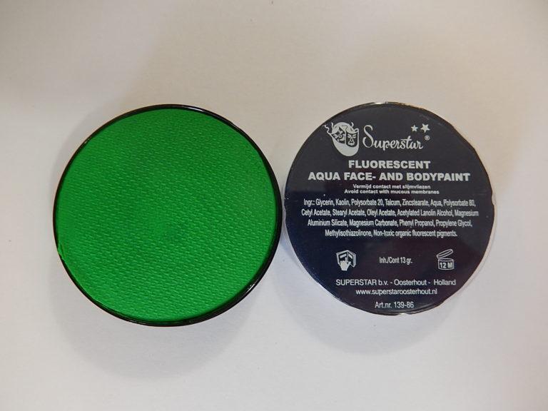 Aqua fluor UV schmink klein groen