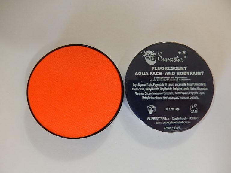 Aqua fluor UV schmink klein oranje
