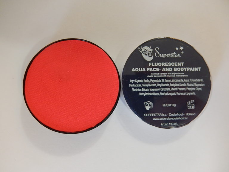 Aqua fluor UV schmink klein rood
