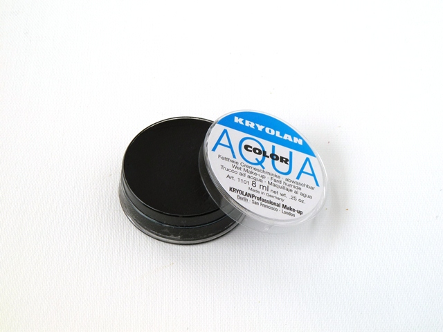 Aquacolor kryolan klein 071 zwart