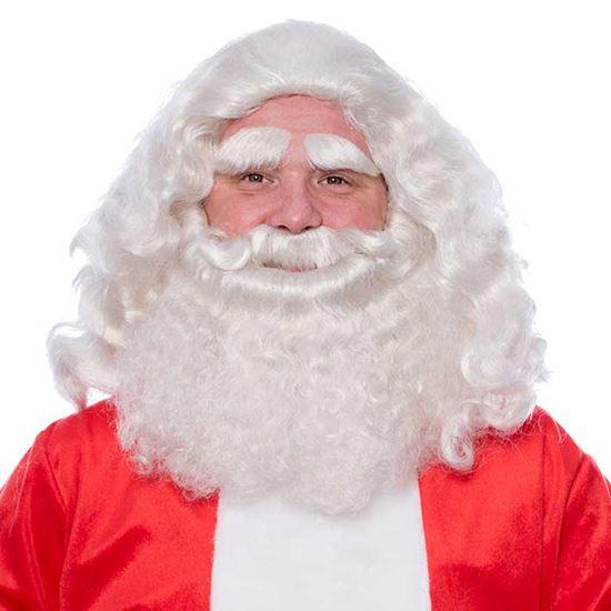 Baardstel kerstman deluxe
