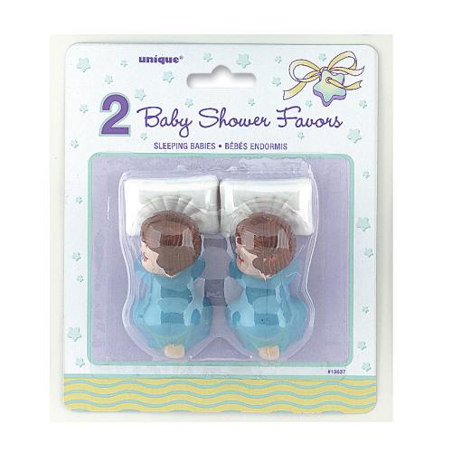 Baby shower baby's blauw 2 stuks