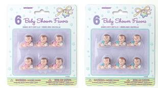 Baby shower baby's blauw 6st