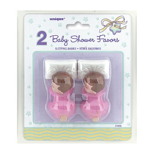 Baby shower baby's roze 2 stuks