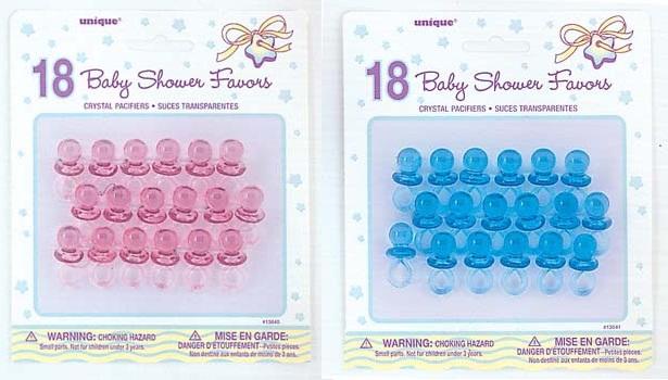 Baby shower speentjes blauw 18st