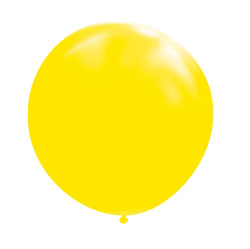 Ballon rond 50cm geel per stuk