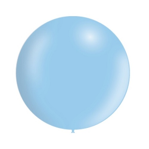 Ballon rond 50cm pastel blauw per stuk