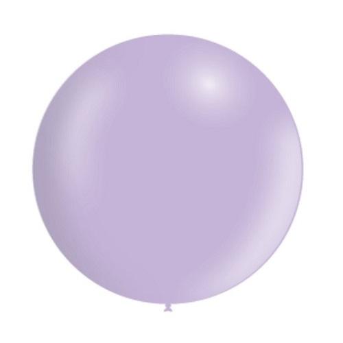 Ballon rond 50cm pastel paars per stuk