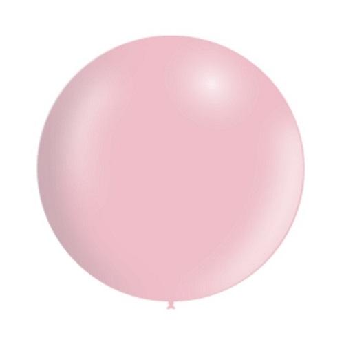 Ballon rond 50cm pastel roze per stuk