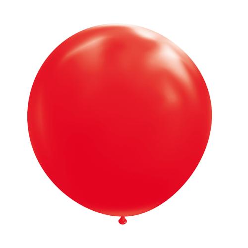 Ballon rond 50cm rood per stuk