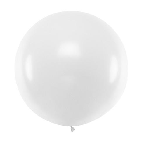 Ballon rond 50cm wit per stuk