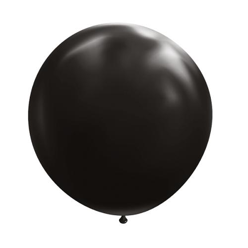 Ballon rond 50cm zwart per stuk