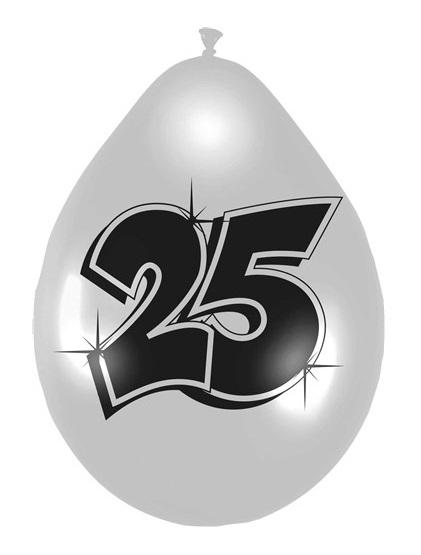 Ballonnen 25 metallic zilver