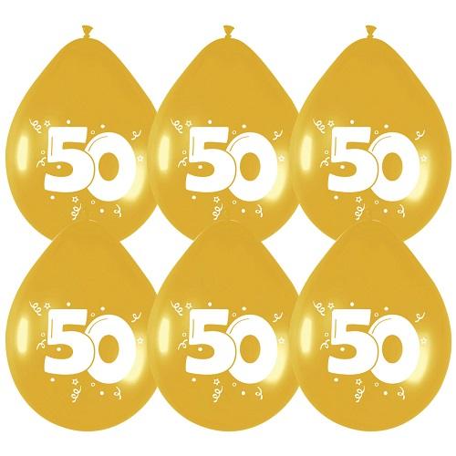 Ballonnen 50 metallic goud