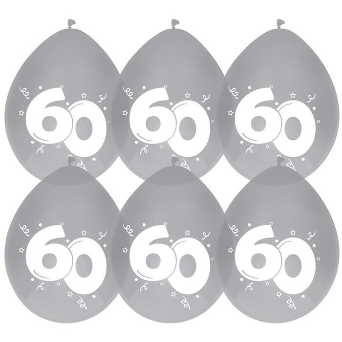 Ballonnen 60 diamant 6st