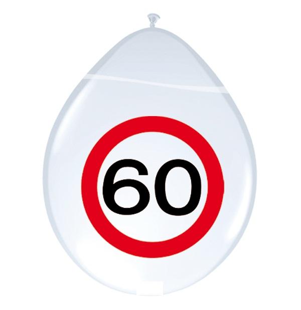 Ballonnen 60 verkeersbord 8st