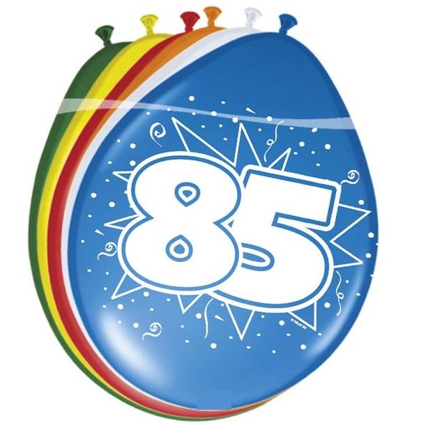Ballonnen 85 jaar pastel