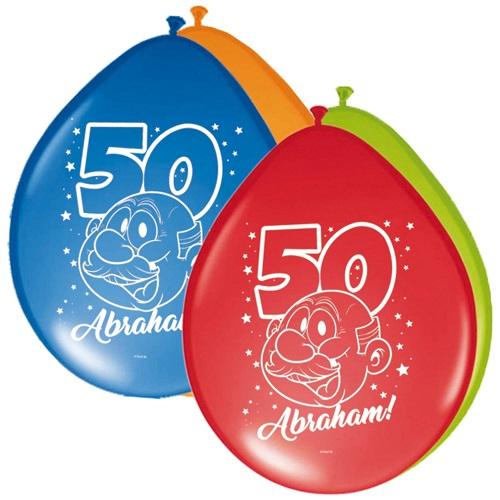 Ballonnen Abraham rainbow 8st