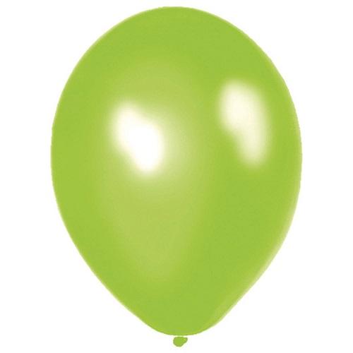 Ballonnen appeltjes groen metallic 10 stuks