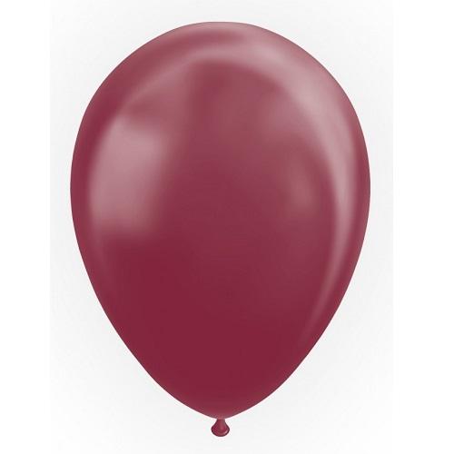 Ballonnen bordeaux metallic 10 stuks